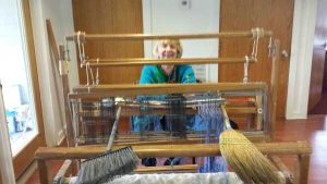 Photo of me at the loom